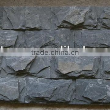 Black Slate Mushroom Stone natural surface Wall Cladding floor covering,Natural decorative stone low price