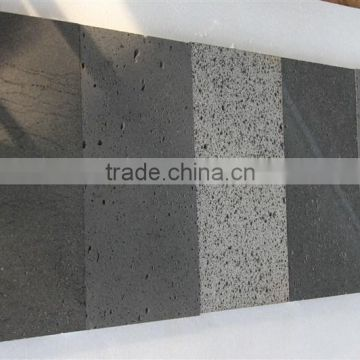 Natural black honed lava stone tile for sale