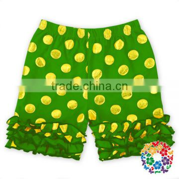 wholesale baby girl's boutique clothes elastic waist cotton shorts children ruffle shorts baby ruffle shorts pants
