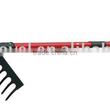 GR014 RAKE WITH LONG FIBREGLASS HANDLE