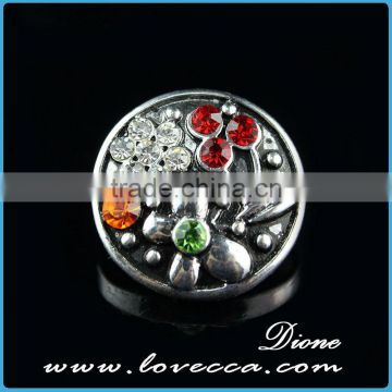 Fashion design 18mm metal snap button for leather bracelets, necklace