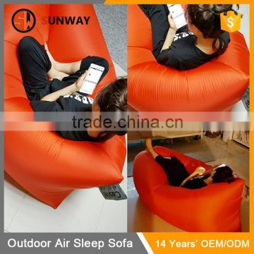 Inflatable Hangout Sofa Cheap Price Nylon Sleeping Bed Air Bag