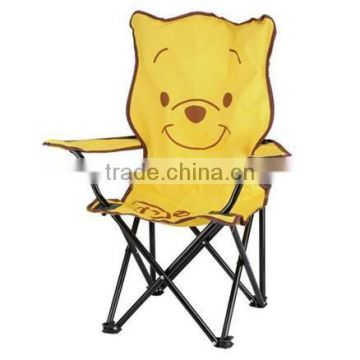 Cartoon design kids foldable beach chair with armrest