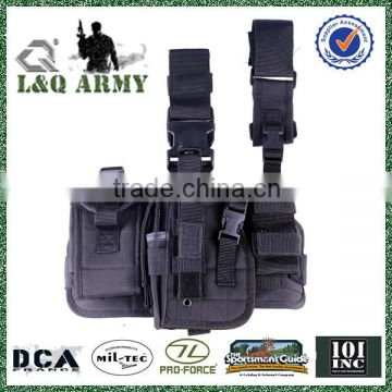 2016 hot sell wholesale tactical Drop Leg Holster radio pouch right handed