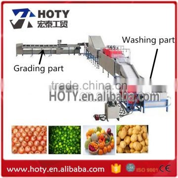 Professional brush and bubble fruit vegetable washing machine