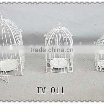 Hot sale metal decorative white bird cage