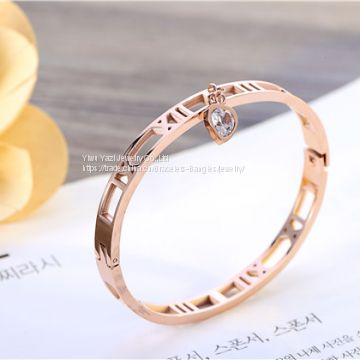 Gold Rose Gold Silver PVD Plating Womens Stainless Steel Bracelet Armbånd Esposas