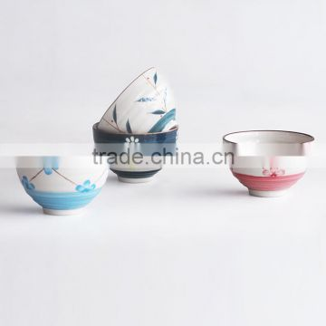 ceramic bowls with hand painting for Ramen