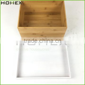 Bamboo elegant storage box bamboo storage container Homex BSCI/Factory