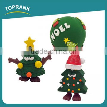 Hot selling pet toys green Christmas tree ball Christmas dog toy set