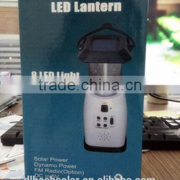 hotsales FM Radio solar power and emergency crank solar lantern &solar chargers