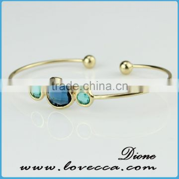 Personalized Glass Infinity Bracelet with Birthstone Charm