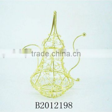 NEW DESIGN!!!Gold Handmade Wire art wine pot for home decor
