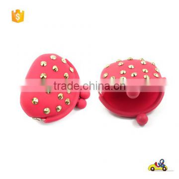 wholesale cheap Logo custom Coin Purse Silicone Coin Purses/ for promotion