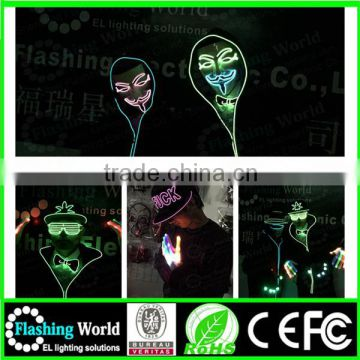 The cheappest price summer popular Best service plastic flashing light up led glasses