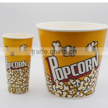 Popcorn bucket disposable paper material