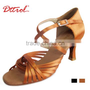 D006090 Dttrol ballroom competition suphini latin dance shoes with straps for women salsa