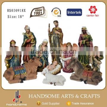 8 Inch Home Decoration Religious Items Jesus Birth Christmas Crib Nativity Set Statues