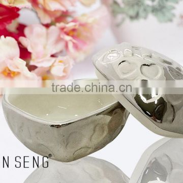 Ceramic Silver plating Chocolate Box for Wedding Gifts
