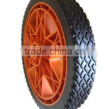 10/12 inch plastic wheel for garden cart, hand truck, generator