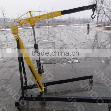 Mini mobile crane 2 ton used for lifting engine