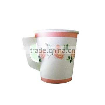9oz Customized disposable paper handle cups manufacturer in china