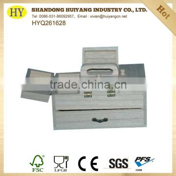 unfinished cheap factory new wooden sewing box