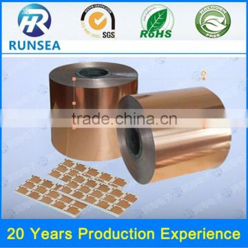 good quality copper tape price double sided copper tape sigle or double side die cutting copper adhesive tape