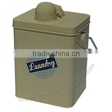 houseroom Laundry box metal Pegs Bucket whit wire handle