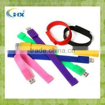 Hot Sale Free Sample usb flash drive wristband usb silicone bracelet for Promotional Gift