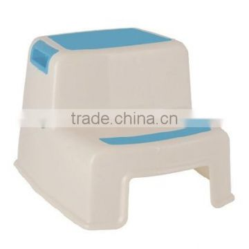 plastic children step stool with the non-slip feet design on surface