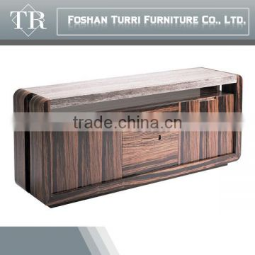 modern home funiture dining room wooden sideboard with marble top