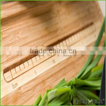 Midori Way Thick Bamboo Wood Cutting Board Set with Juice Grooves - Extra Large (18x12 -Inch)