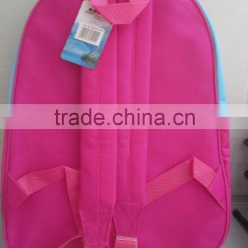 pink school bag for children with big capacity and high quality for sale