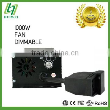 Hydroponic Light Ballast 1000W Dimmable With Cooling Fan HID Ballast