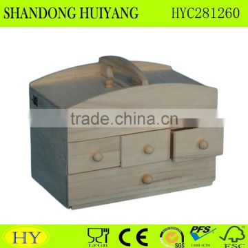 wholesale wooden sewing box with drawer