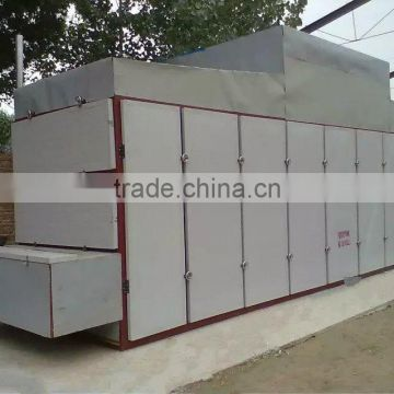 Continuous Hot Air Fruit Apple Slice Cubes Herb Drying Machine Belt Dryer