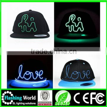 diversified latest designs evident effect custom led light snapback hats