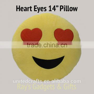 "Emoji Pillows 14""/35cm Soft Stuffed, Smiley Toy Plush Pillow USA SELLER!!"