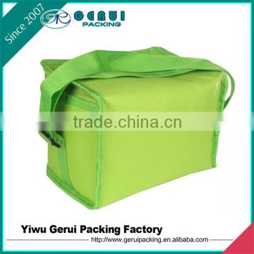 Strong reusable blue 600D polyester insulated cooler bag
