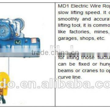 2t wireless remote control wire rope electric hoist