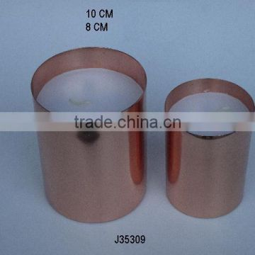 copper Vessel candles also only vessels can be ordered with out wax