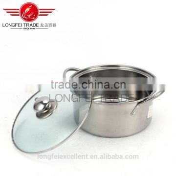 2016 best quality 4pcs stainless steel chinese-style soup pot set/cooking pot