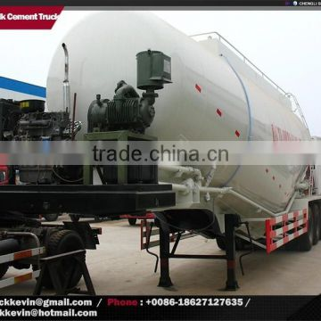60000 liters dry powder bulk concrete tanker trailer