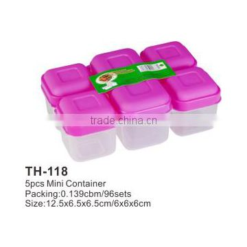 plastic mini storage box set and snack container