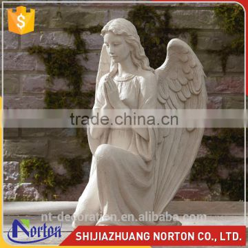 Stone church life size kneeling girl angel sculptures NTMS-R082Y