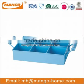 Customized steel metal fresh color fruit tray