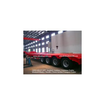 CHINA HEAVY LIFT - Flatbed TrailerCHINA HEAVY LIFT - 2 axle Flatbed Container Trailer