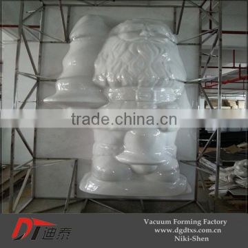 Custom Huge outdoor plastic santa clause with big size plastic product by vacuum forming
