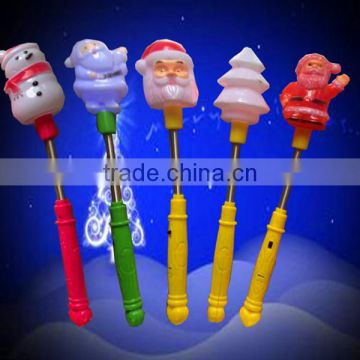Christmas led flashing toy/Santa Claus flashing stick /Snowman glow sticks for gift